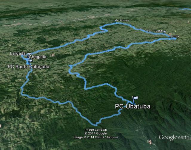 Percurso do BRM misto de São Luís do Paraitinga