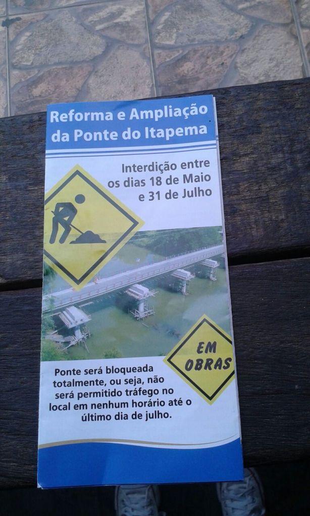 Intervenção na Ponte do Itapema sobre o Rio Paraíba