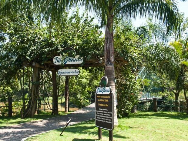 Ilha Grande, situada no centro de Guararema (Foto: Divulgação)