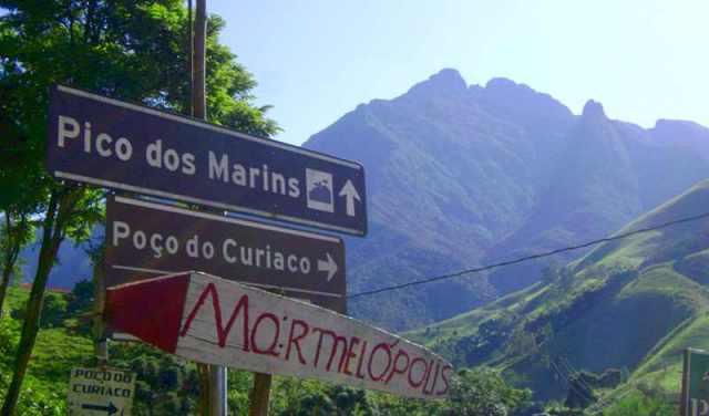 Entrada para o bairro dos Marins